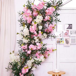 زهرة الكرز الفروع الزفاف جدار الكرز أشجار الخوخ زهرة الاصطناعي زهرة شجرة وهمية متمنيا محاكاة شجرة داخلي الجدار ث