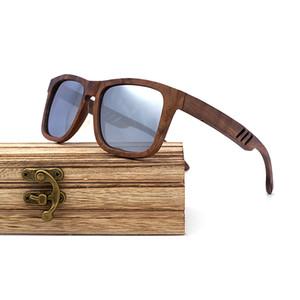 2021 NOUVEAU Mieux for Wood Homme Sunglasses Polarisée Walnut Bois Sun Lunettes Femmes Brand Design Conduite Shambres Handmade I1Gu