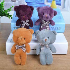 Little Bear Cute Plush Keychain Holder for Bag Charm Hanging Chain Key Ring Pendant Doll ToySL9S