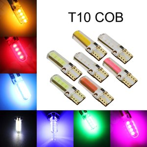 100Pcs T10 W5W 168 194 2825 COB 8SMD Silicone LED Car Bulbs For Clearance Lamps License Plate Lights 12V