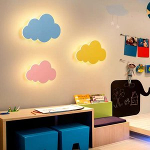 Wall Lamps Nordic Creative Cartoon Modern Cloud Lamp White Pink LED Wall-Mounted Living Room Boy Girl Children Bedroom