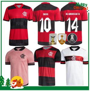 21 22 Flamengo Jersey 2021 2022 Guerrero Diego Vinicius Jr Soccer Jerseys Flamengo Gabriel B Esportes Futebol Adulto Homens e Mulher Camisa