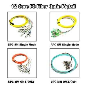 FC 12 Core Bundles 5 Pieces lot 1.5 Meter Fiber Pigtail Optic UPC APC SM Single Mode MM Multi Mode FTTH