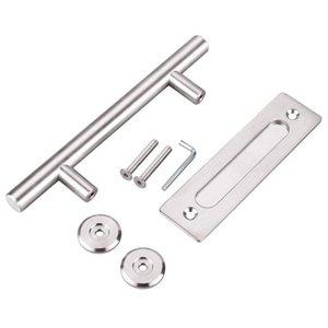 Handles & Pulls 304 Stainless Steel Sliding Barn Door Pull Handle Wood For Interior Doors