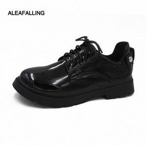 ALEAUMFALLING SUPER CLASSCIAL OFFICE Herren Schuhe Lace Up Relax Buckle Gentleman Weiche Lederstiefel Trend Knöchel Motorrad Boots Stiefel 27 l #