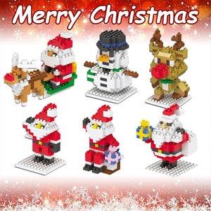 small Christmas series Character Model DIY Blocks Toys String Micro Particle Building Block Toy Creative Decoration Manual Xmas gift