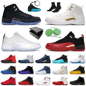 AAA + Authentic Jumpman Regalo con scatola originale 12 12s scarpe da basket a bassa Pasqua Mens High University Gold XII FIBA FLUS GAME Sport Sneakers Scarpe da ginnastica
