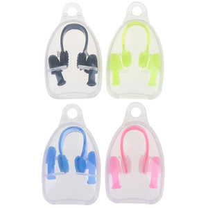 Waterproof Diving Swimming Ear Plugs & Silicone Nose Clip Kit with Storage Box for Kids Adult