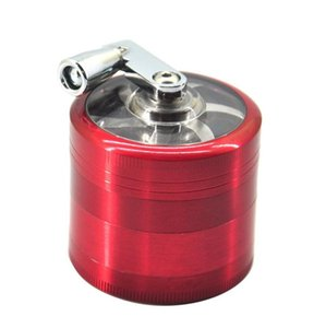 tobacco grinder 50mm 4layers Zicn alloy hand crank tobacco grinders metal grinders for herbs herbal grinders for tobacco Towel OA3703