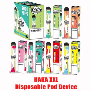 100% Original HAKA XXL Disposable Pod Device Kit 1700mAh Battery 2800 Puffs Prefilled 10.6ml Cartridge Vape Pen Genuine Vs Bang xxl xl