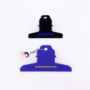 Kpop Bangtan Boys Metal Clips Bang Bang Con Office Stationery Paper Clip Stationery Binding Supplies Artboard Clips 2Pcs Set