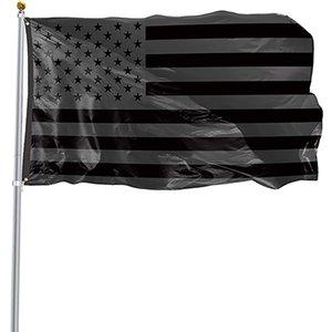 3X5FT Black American Flag Polyester Kein Quartal erhält US USA Historische Schutzbanner Flaggen Einzelseite Indoor Outdoor HH21-81