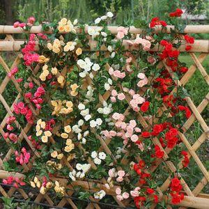 2.2m Artificial Flower Vine Fake Silk Rose Ivy Flower for Wedding Decoration Artificial Vines Hanging Garland Home Decor WLL150
