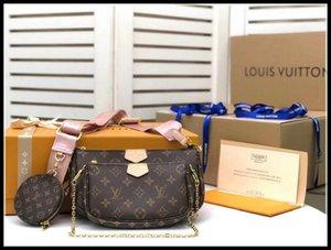 3 Stück Set Multi Pochette Zubehör Taschen Frauen Leder Handtaschen Luxus Abend Umhängetasche Geldbörse TotesLvLouisIn Vitton.