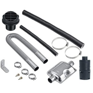 Manifold & Parts 60cm 120cm Stainless Steel Exhaust Hose 25mm Diameter Crude Oil Parking Heater With Cuffer And Clip High Qaulity