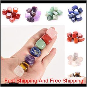Natural Crystal Chakra Stone 7pcs Set Natural Stones Palm Reiki Healing Crystals Gemstones Home Decorat qylyAs wrhome