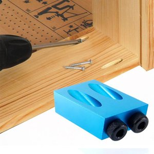Hand & Power Tool Accessories Selling 2021 Pocket Hole Kit 6 8 10mm 15° Angle Adapter Drill Guide Woodworking Home Decoration