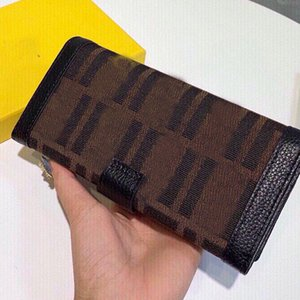 Mens Wallets F Letter Purse Long Wallet Cowhide Custom Hardware Hand Bag Card Holder Free Shipping