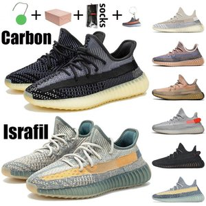 With box 36-48 2021 Carbon Israfil Running Shoes Ash Pearl Blue Stone Sand Taupe Black Static Reflective Cream Bred trainers sports sneakers