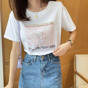 Short Loose Solid Color Women's Top 2021 Summer New Korean White Half Sleeve T-shirt