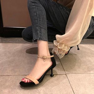 Fashion High Quality High Heel Sandal Shoes Lady Spring Summer 2021 Women's Shoes Buckle Strap Solid Sandals Zapatillas Mujer