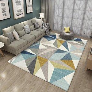 Carpets 2021 Modern Minimalist For Living Room Carpet Bedside Bedroom Rectangular Geometric Pattern Home Large Rugs Washable