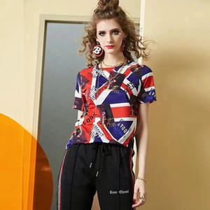 New Womens Summer T-shirt Stand Collar Lips printed Tops Tees Sleeveless Ladies Acetate Size S-2XL
