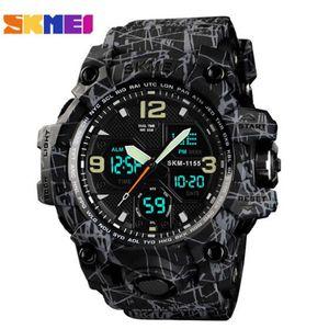Sport Watch Homens Skmei Moda Mulheres Assista Homens Aço Inoxidável Strap LED Display Relógios 3BAR Waterproof Digital Watch Montre Homme Reloj