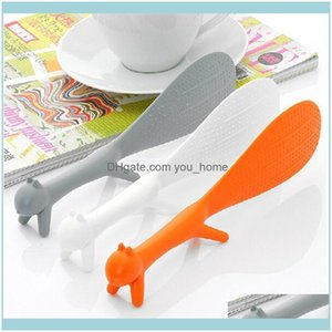 Spoons Flatware Kitchen, Dining Bar Home & Gardenpromotional Wholesale Unique Lovely Animal Creative Squirrel Shape Can Stand Non-Stick Desk