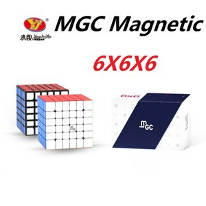 Original YJ MGC 6 Cubo 6x6 Magnetic Magic Cube Yongjun MGC 6 ímãs Cubo Magique Puzzle Velocidade Cubos Brinquedos Educativos para Crianças L0226
