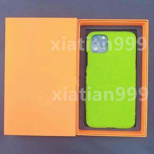 Caja de teléfono móvil de moda 12 caja de teléfono móvil, caja de regalo iPhone11PROMAXXR / XSMAX Funda suave 7 8P Mujer XR de cuero