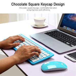 2.4G office ultra-quiet wireless keyboard set mute ultra-thin combination Professional Manufacture In Stock
