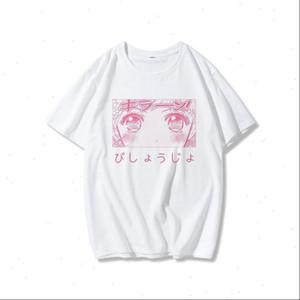 summer womens Harajuku kawaii O neck fashion shirt Lychee Japanese Anime Cartoon Sailor Moon Print loose short sleeved T shirt