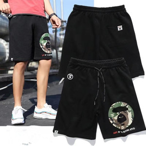 2021 Европейская и американская мода Новый Хлопок Каприз Студент Свободные Шорты Молодежные вязаные спортивные штаны