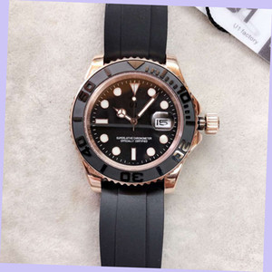 U1 Factory Everose Gold Yacht 116655 40MM Automatic Mechanical Men Watch Watches Black Dial Rotatable Bezel Master Rubber Mens Wristwatches