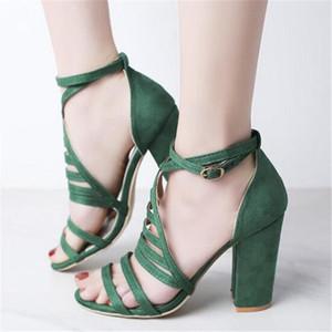 Designer New women's sandals summer heightening super high heel open toe sandals 2021 one high heel buckle hollow women shoes