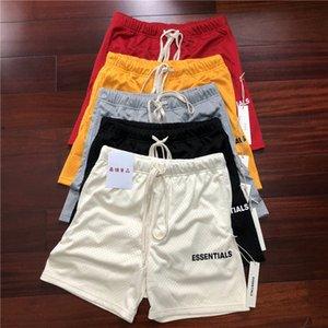 2021 Новая сетка Essentials Boxy Fog Hiphop Men Casual Shorts America High Streetwear Одежда P03B