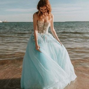 Latest Summer Boho Bridal Wedding Gowns Sweetheart Lace Appliques Green Bohemia Wedding Dresses for Bride Princess