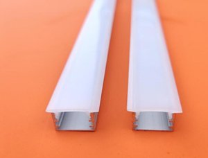 Free Shipping Aluminum And Pc Diffuser Extrusion Body Material Recessed Aluminum Led Profile For Strips 2M Pcs 40M Lot