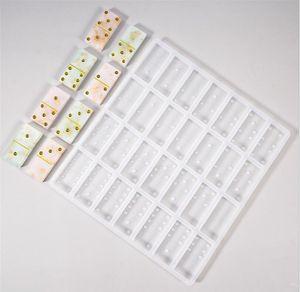 Heiße Kunsthandwerk Home Domino Epoxidharz Clay Form Schokoladenform 28 Hohlräume Silikonform Für Anhänger Kuchen Schmuck Machen Werkzeug