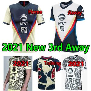 2021 2022 Liga MX Club Amerika Üçüncü Sarı Futbol Formaları 20 21 3rd Giovani Castillo Futbol Gömlek Erkekler + Çocuk Kiti Futbol