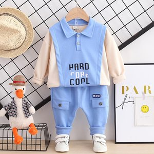 Children Outfit Baby Clothes Set Kids Clothing Boys Designer Spring Cotton Sweatshirt Boutique Free Shipping Wear Top+Pants 2pcs J0220