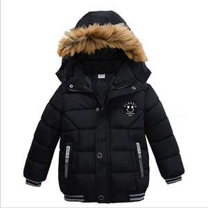 New Arrivals Fashion Boys Down Coats Autumn Winter Kids Hooded Warm Jackets Cotton Children Outwear Windbreaker Boys Jacket