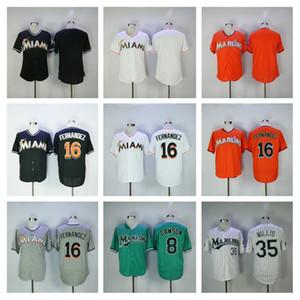 Männer Frauen Kinder Baseball Vintage 16 Jose Fernandez Jerseys Retirne 94 Bad Bunny Jersey mit Puerto Rican Flagge 35 Dontrelle Willis Andre Dawson
