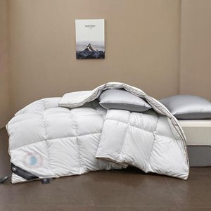 Nordic Classic Down Quilt Thick Blanket Super beautiful winter thicken warm cotton quilt Breathable Autumn Soft Bed Cover