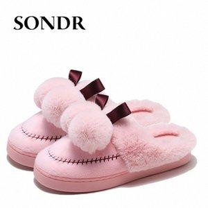 Женщины Sipers Site Plush Pantoufles Femme Hiver мягкие теплые женские туфли мода дом пушистые тапочки черные крытые туфли сапоги ботинки G U4CP #