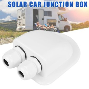Parts Waterproof ABS Junction Box Double Cable Entry Gland For RV Solar Panel Motorhomes Campervans Caravans Boats