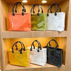 Designer Big Kids PVC Handbag Lady style Girls large capacity Tote Bag luxury women beach Shopping Bags A7905
