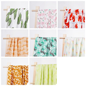 Baby Muslin Swaddle Blankets Cotton Summer Bath Towels Newborn Wraps Nursery Bedding Infant Swadding Parisarc Robes Quilt GWE4748