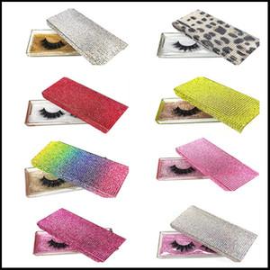14 Styles Diamond Packing Box 3D Mink Eyelashes Empty Packaging Boxes Glitter Rhinestone Lashes Case Eye Lashes Plastic Boxes